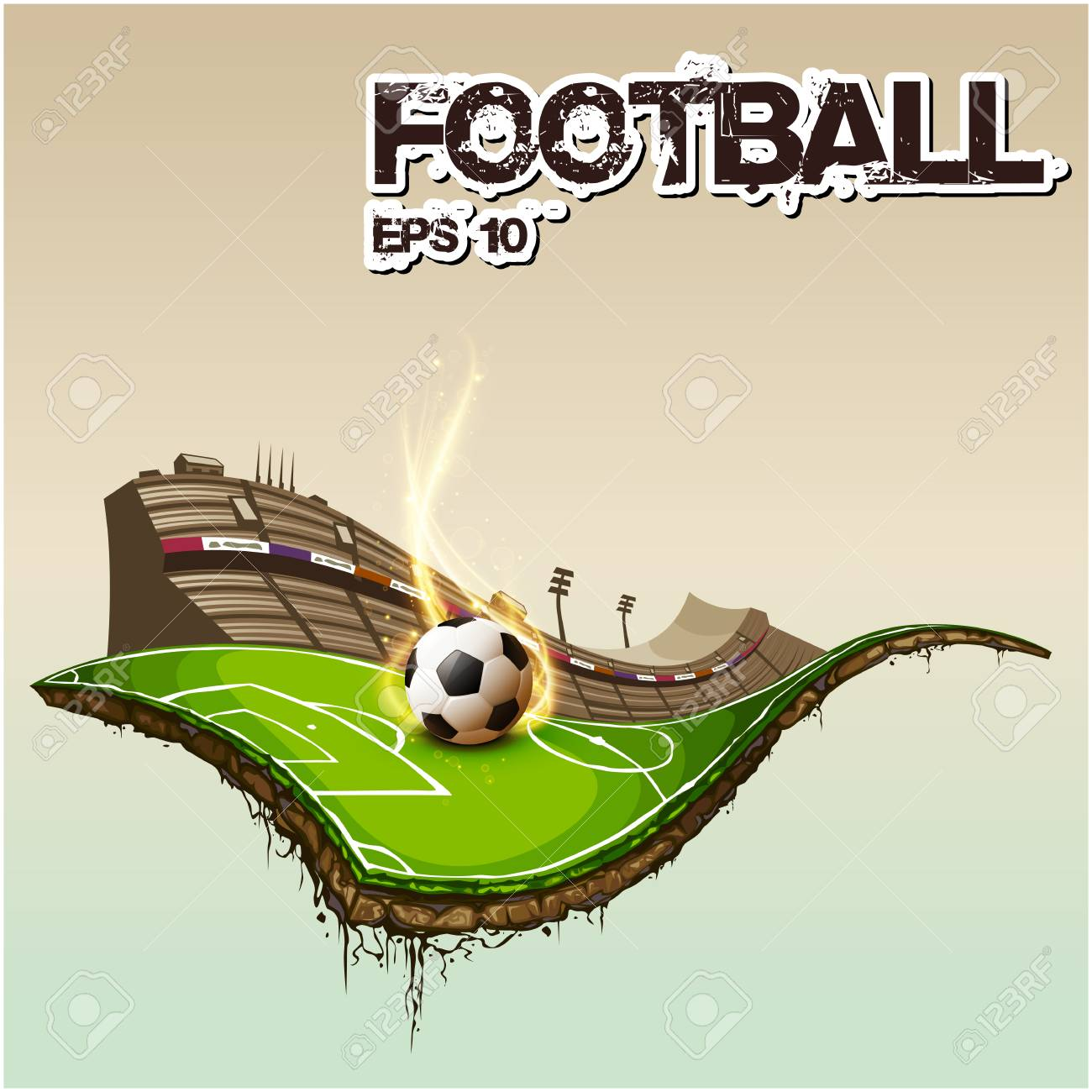 football text in football stadium background vector image royalty free cliparts vectors and stock illustration image 97700826 football text in football stadium background vector image