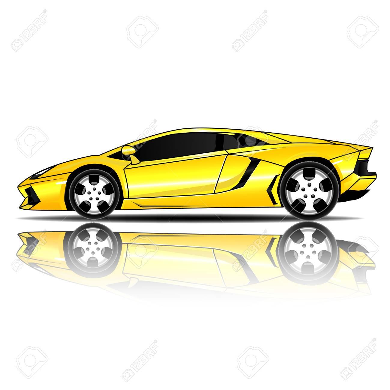 Sports Car Vector Illustration Royalty Free Cliparts Vectors And