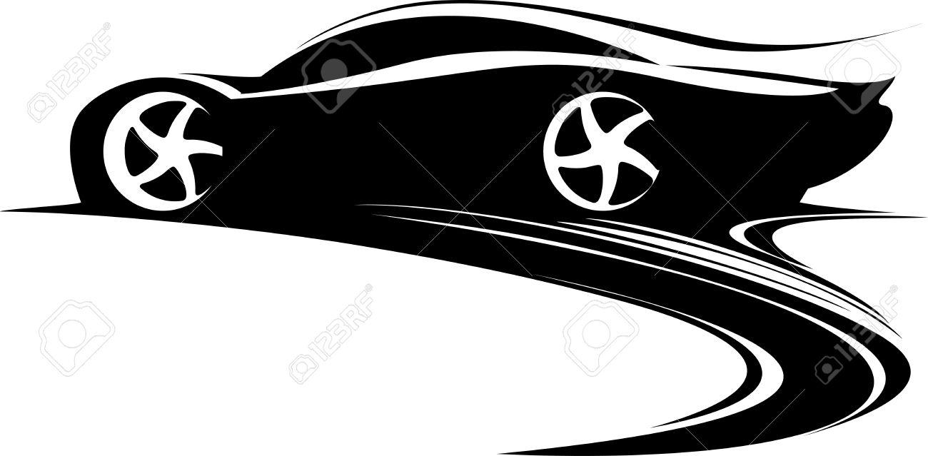 Design car emblem - Sport Car Label Design Fast Car Emblem Black And White Drifting Car Silhouette