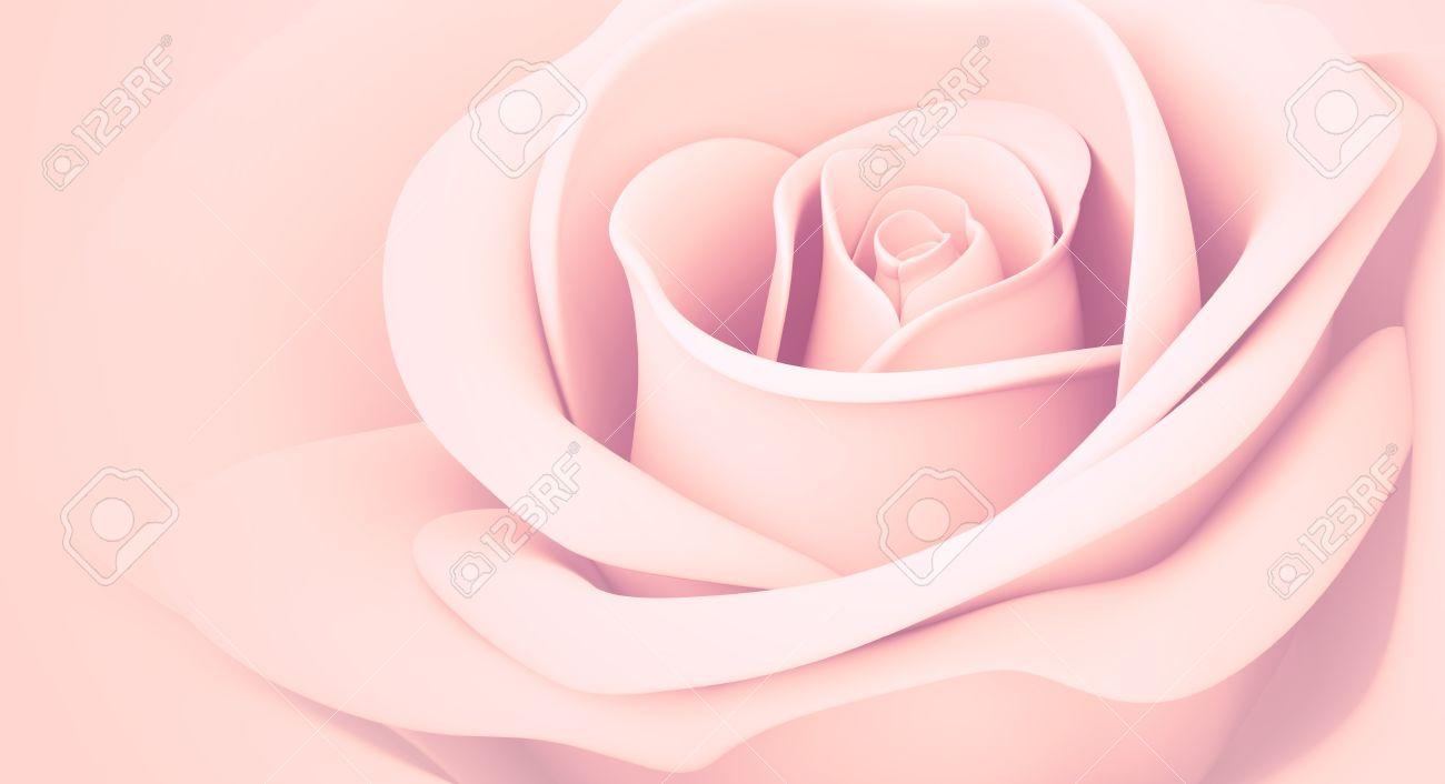 Vieux Rose Couleurs Pastel Isoles 3d Banque D Images Et Photos