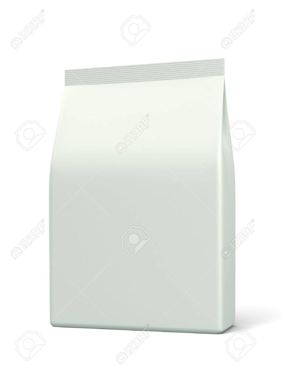 3D bag medium package on a white backgrounds - 12984059