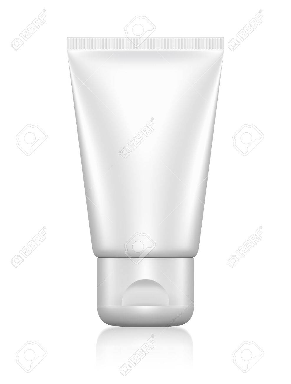 3D package tube blank on a white background isolated - 12984056