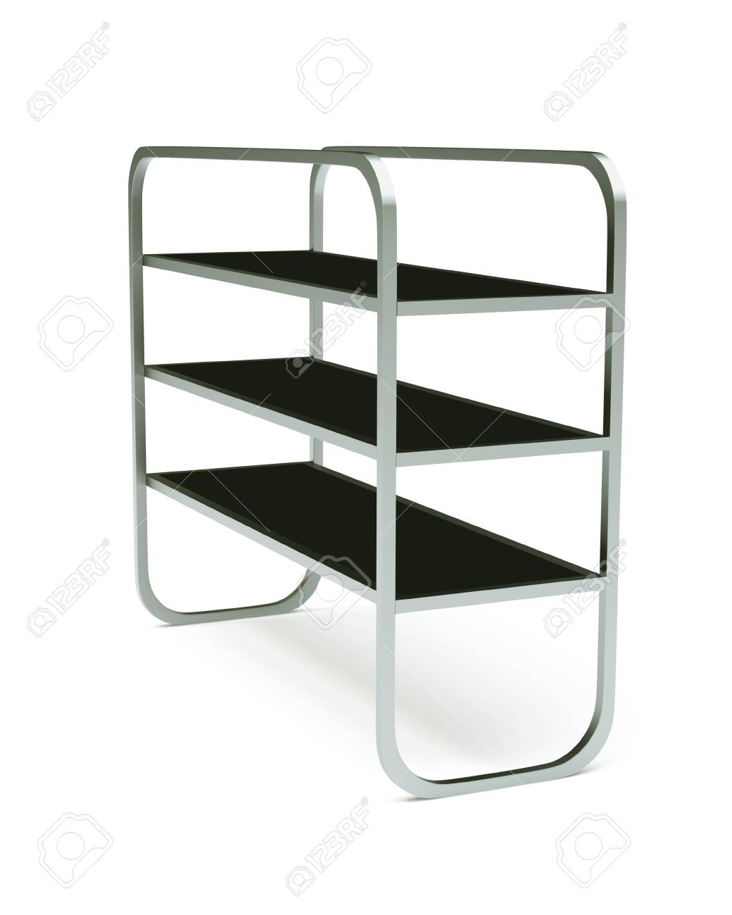 3D shelves and shelf on a white background  Isolated Stock Photo - 14932081