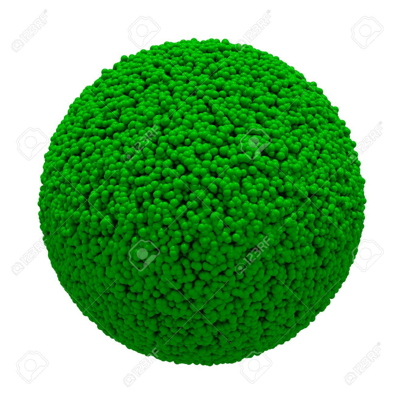 3D grass sphere ball on white background  Isolated Stock Photo - 14932303