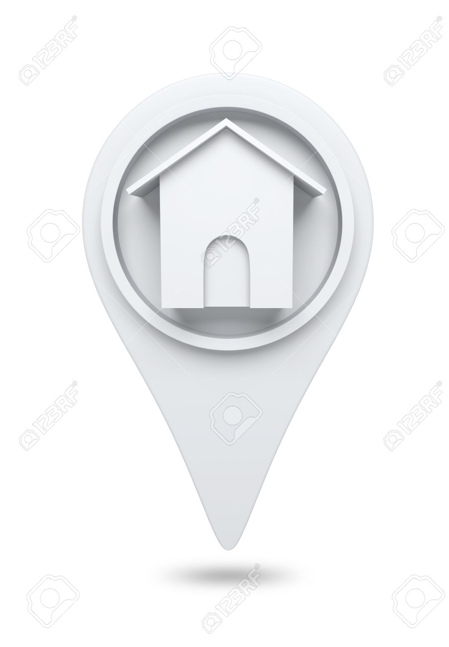 3D Home website icon design element isolated - 14991408