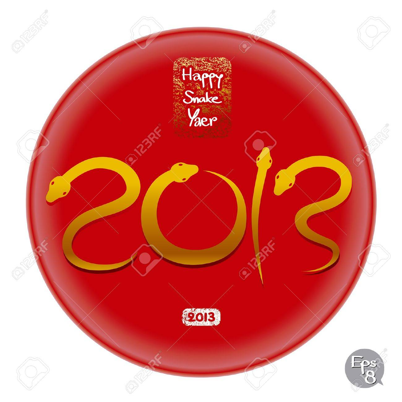 happy snake year 2013 Stock Vector - 15528495