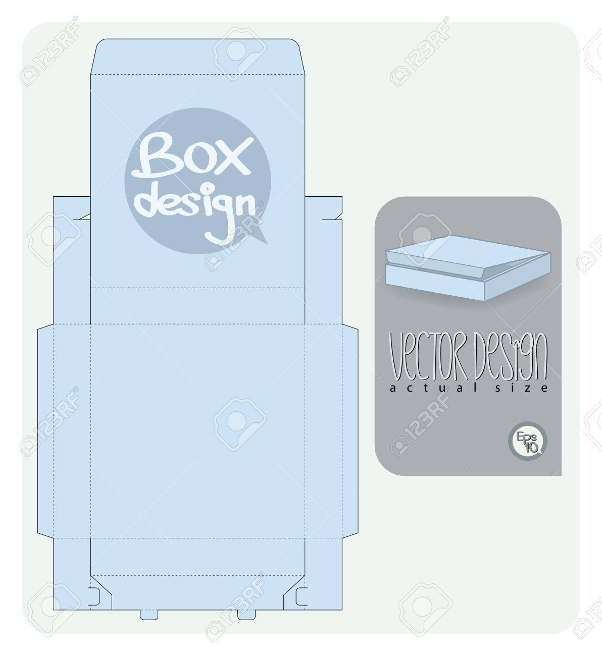Vector Gift Box paper die cut actual size - 21994953