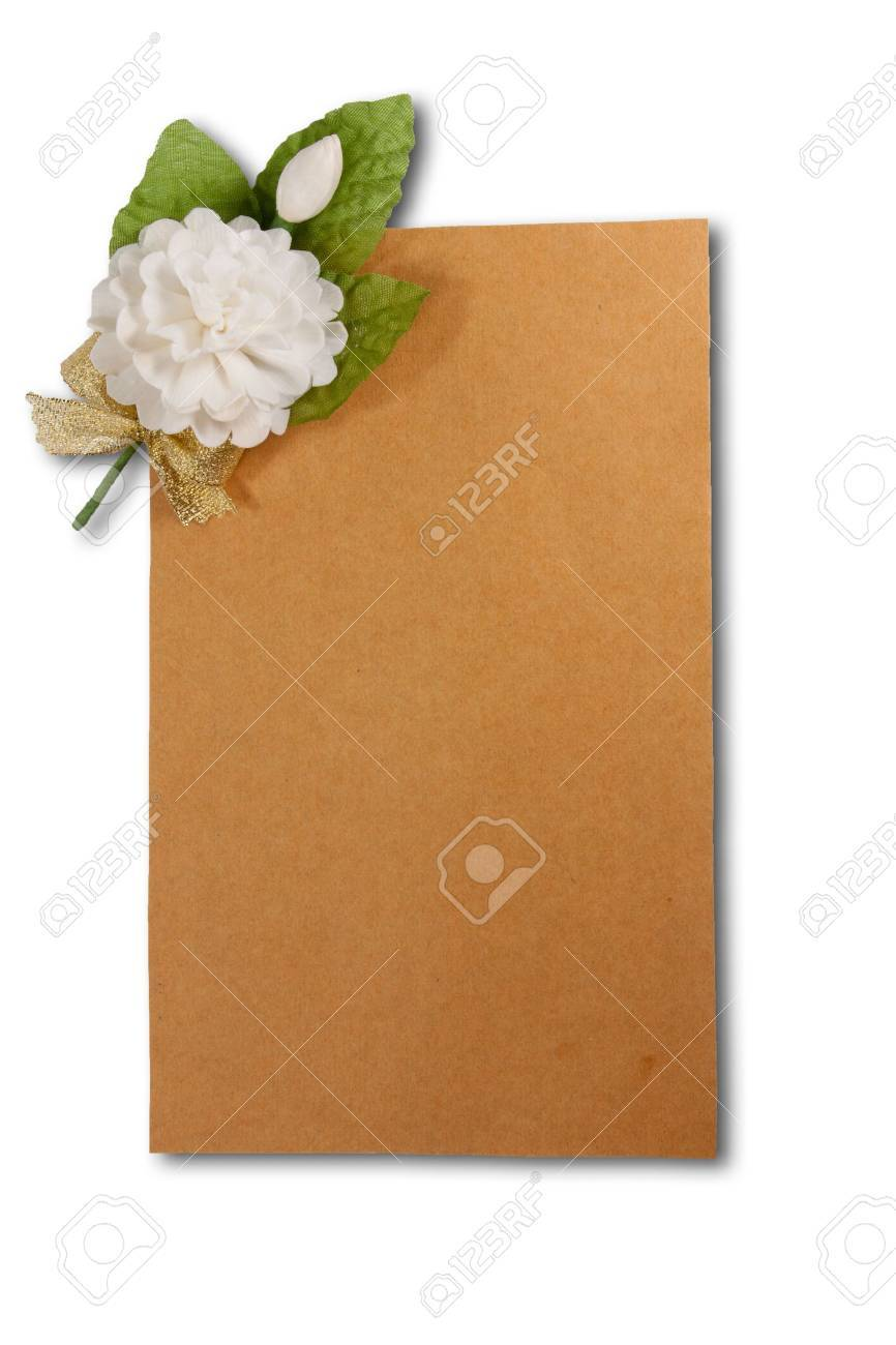 Jasmine hand-made and paper brown ,  Mother Stock Photo - 10200791