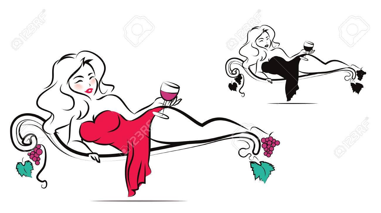 Beautiful woman is enjoying a glass of wine - 38969507