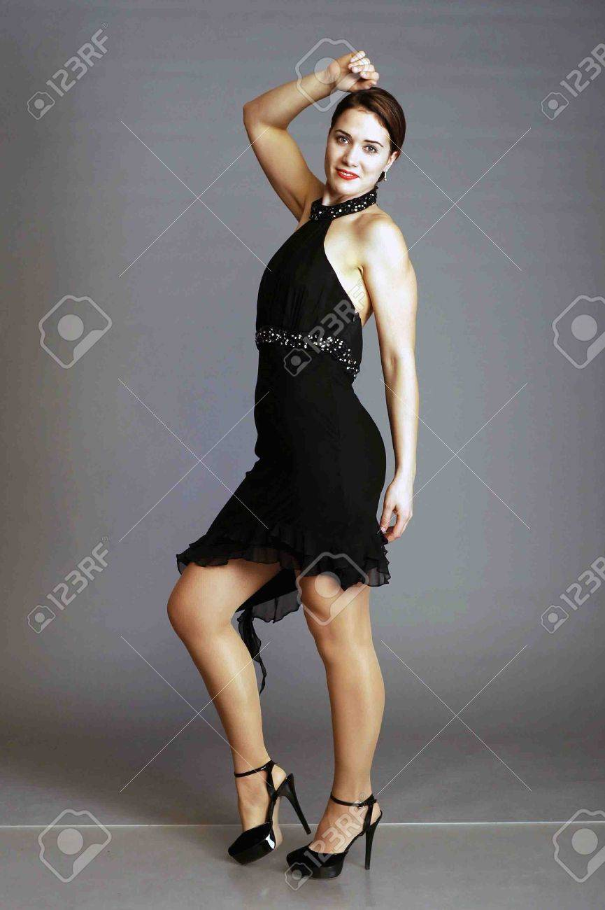Fille Femme Qui Noir Noir Danse Tango En Uq1BRpK7w