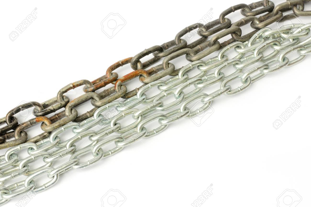 Metal chain with isolate white background Stock Photo - 15831212