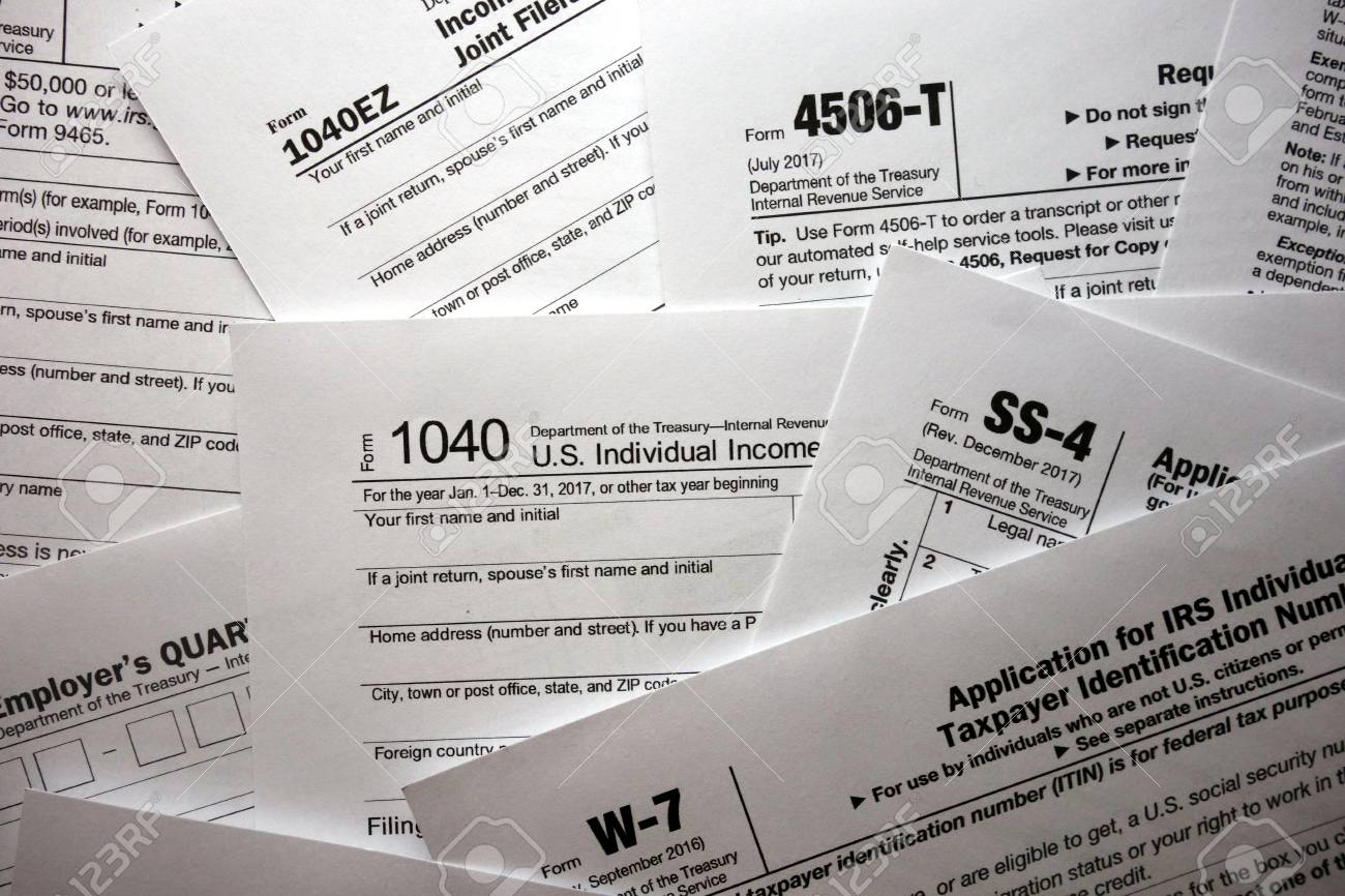 US Tax Forms Background Stock Photo, Picture And Royalty Free Image ...