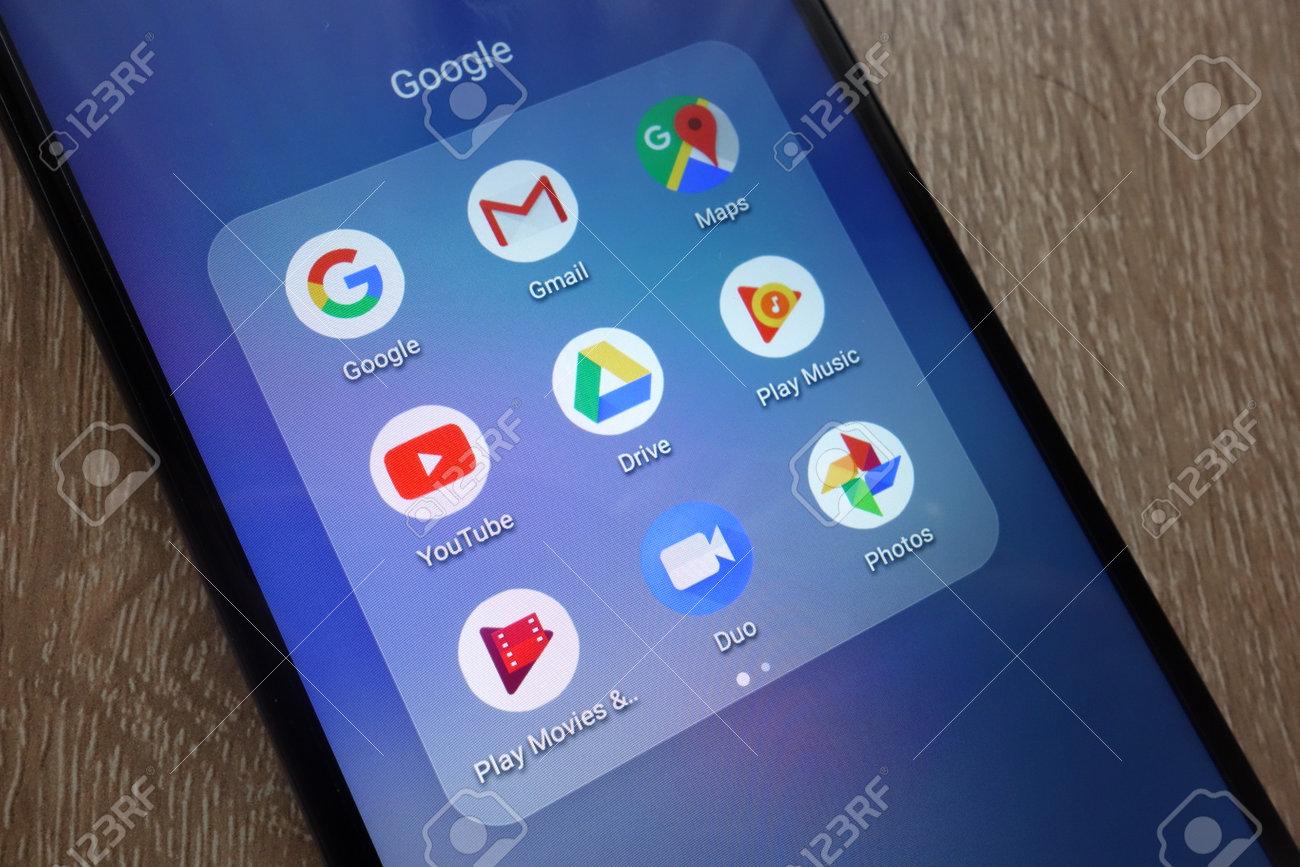 Konskie Poland June 17 2018 Google Apps Including Gmail