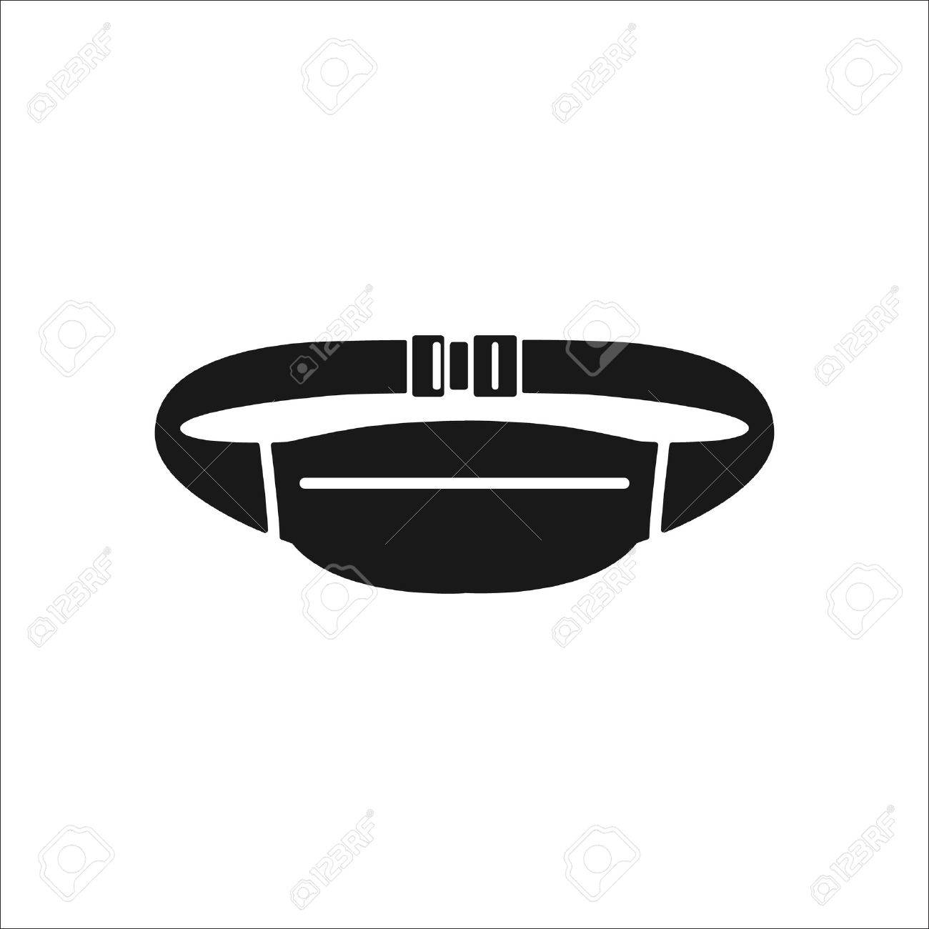 Waist sport bag sign simple icon on background - 58220924