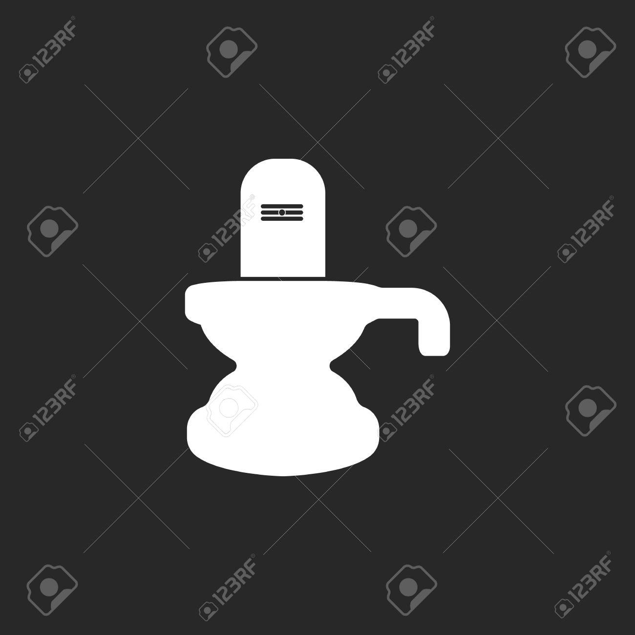 Shiva Lingam Symbol Sign Simple Icon On Background Royalty Free