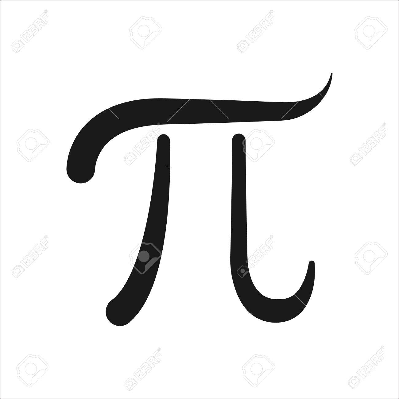 Pi Symbol Sign Simple Icon On Background Royalty Free Cliparts