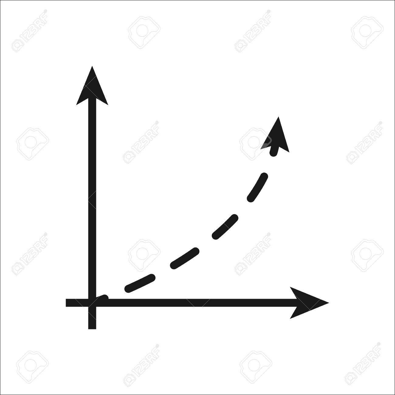 Graphique Math Symbole Coordonnes Simple Signe Icne Sur Fond Clip