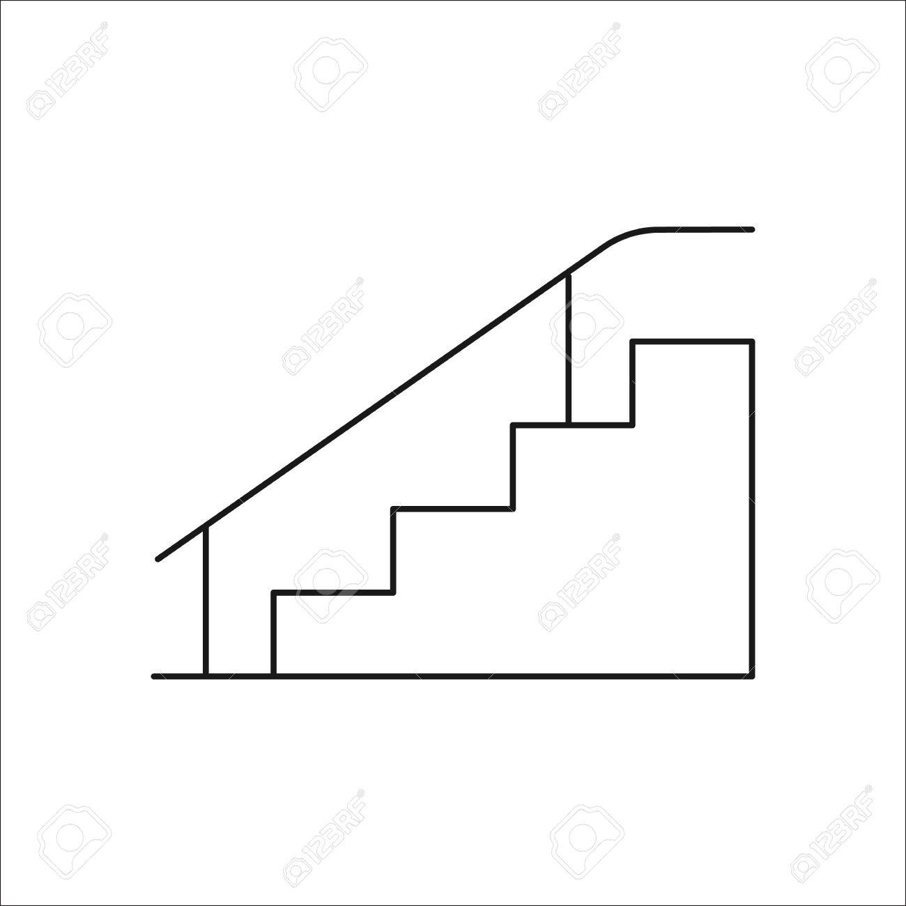 Skateboard stairs with rail symbol sign line icon on background skateboard stairs with rail symbol sign line icon on background stock vector 69783187 buycottarizona