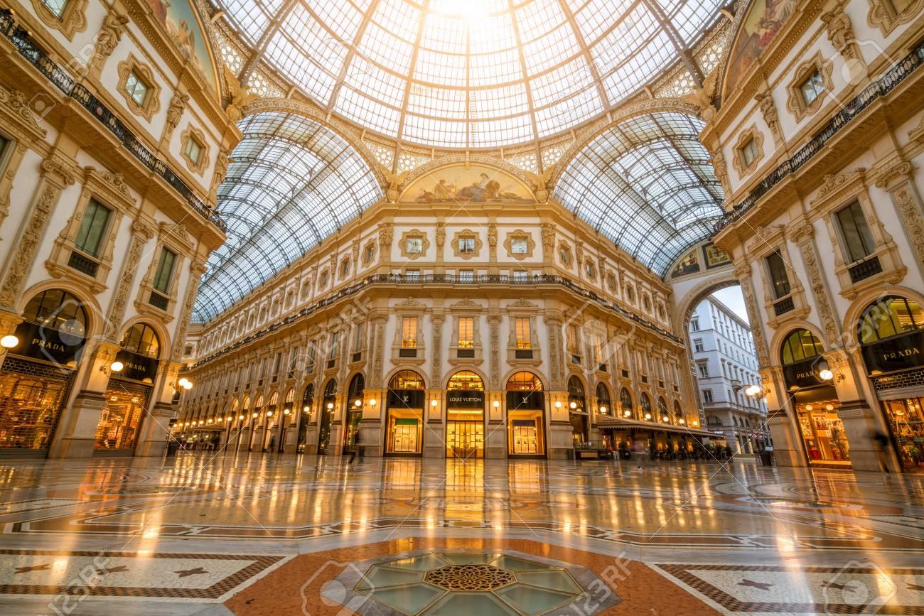 Milan Italy Sep 29 2017 Galleria Vittorio Emanuele Ii In