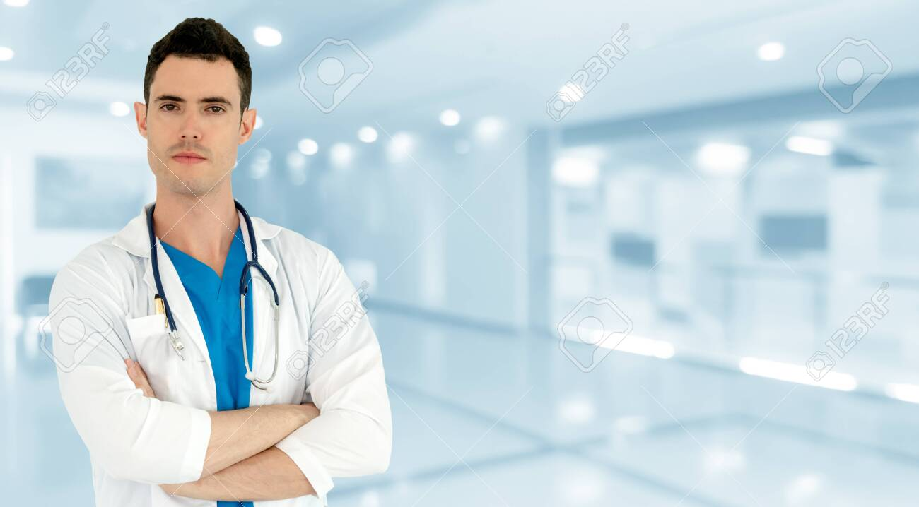 Young male doctor working at the hospital. Medical healthcare and doctor staff service. - 133680465