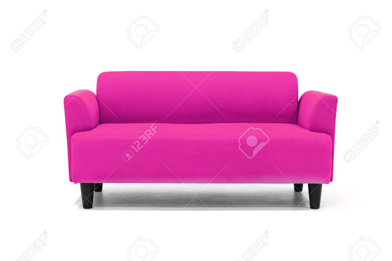 Pink Scandinavian Style Contemporary Sofa On White Background Stock Photo Picture And Royalty Free Image Image 117357389