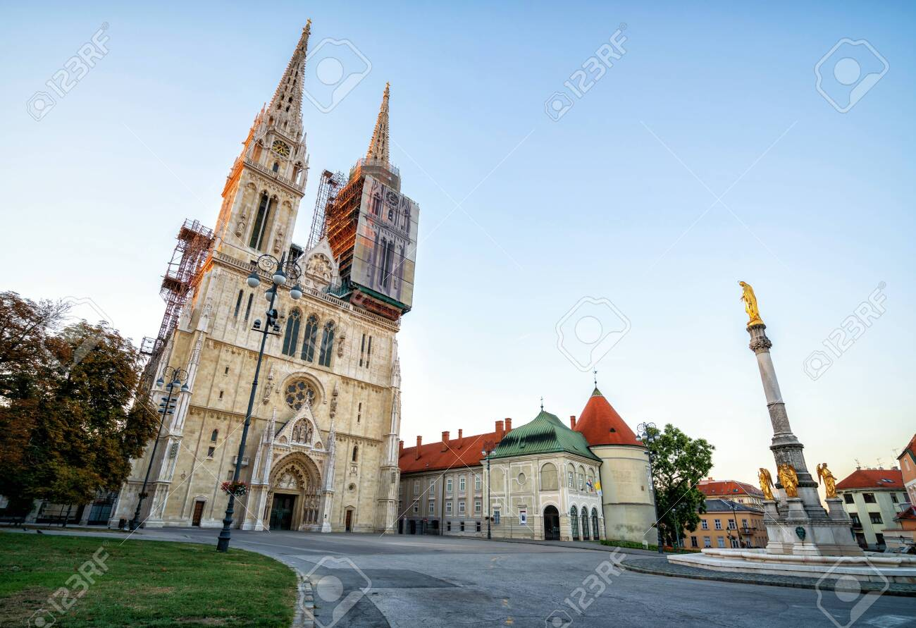 Zagreb Cathedral In City Center Of Zagreb Croatia The Zagreb Stock Photo Picture And Royalty Free Image Image 119875846