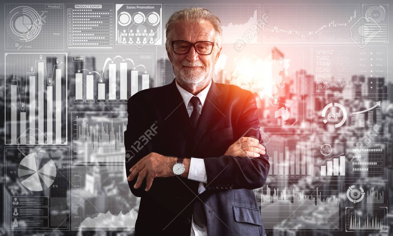 Data Analysis for Business and Finance Concept. Graphic interface showing future computer technology of profit analytic, online marketing research and information report for digital business strategy. - 128432991