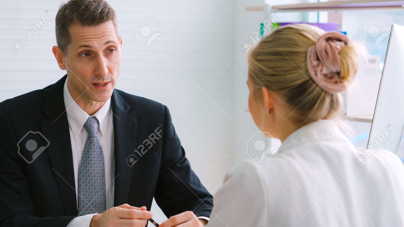 Job seeker in job interview meeting with manager and interviewer at corporate office. The young interviewee seeking for a professional career job opportunity . Human resources and recruitment concept. - 158187360