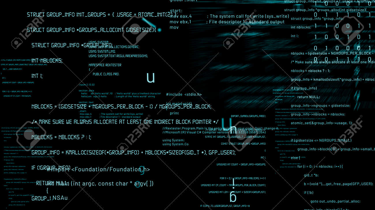 Visionary programming and coding of future software . 3D rendering computer graphic . - 171906046