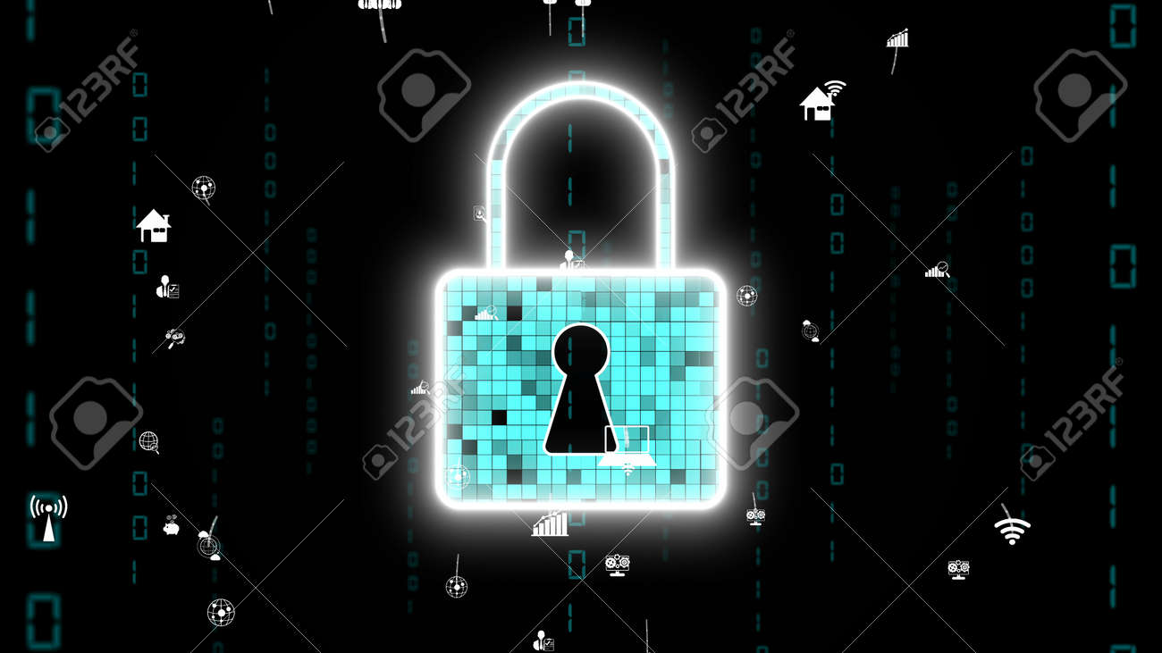 Visionary cyber security encryption technology to protect data privacy . 3D rendering computer graphic . - 171925577
