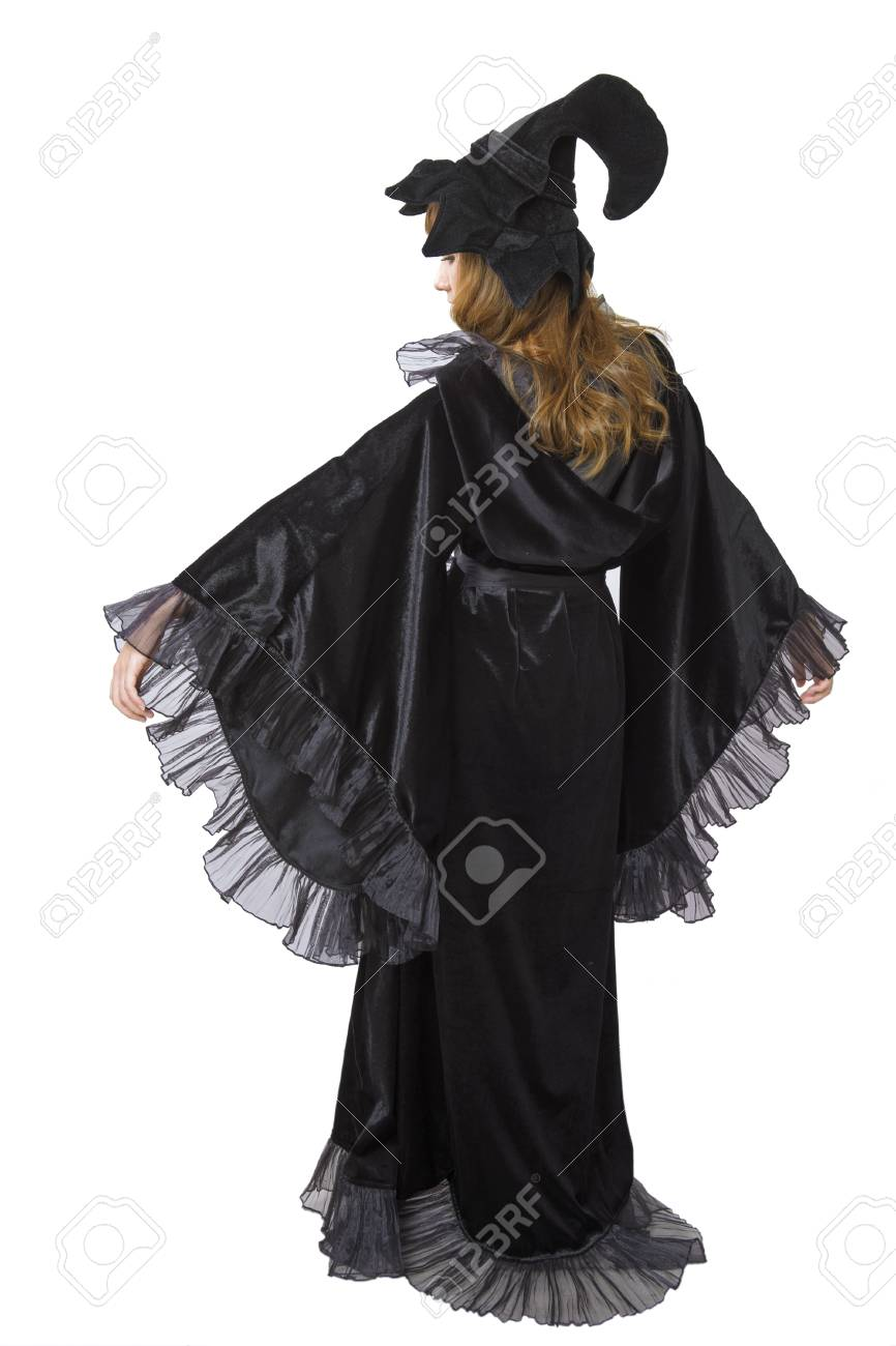 Asian witch woman on white background Stock Photo - 36079519 adea2a433ca5
