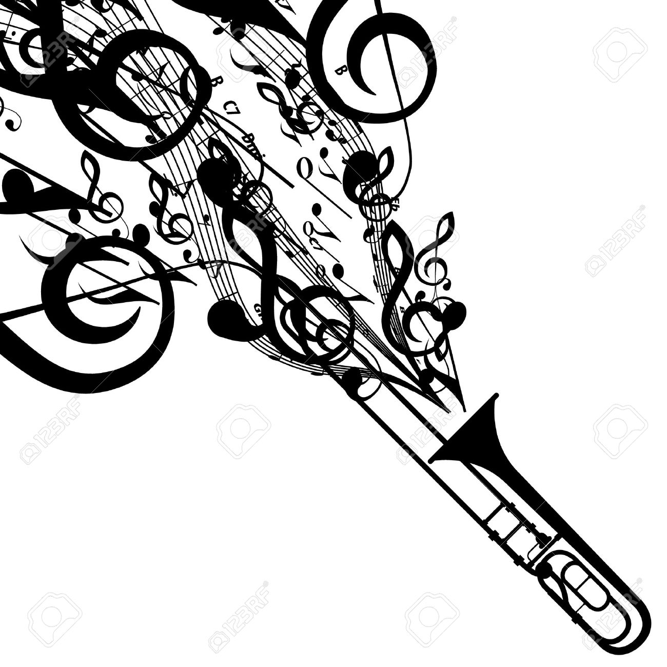 Trombone Stock Photos. Royalty Free Trombone Images And Pictures
