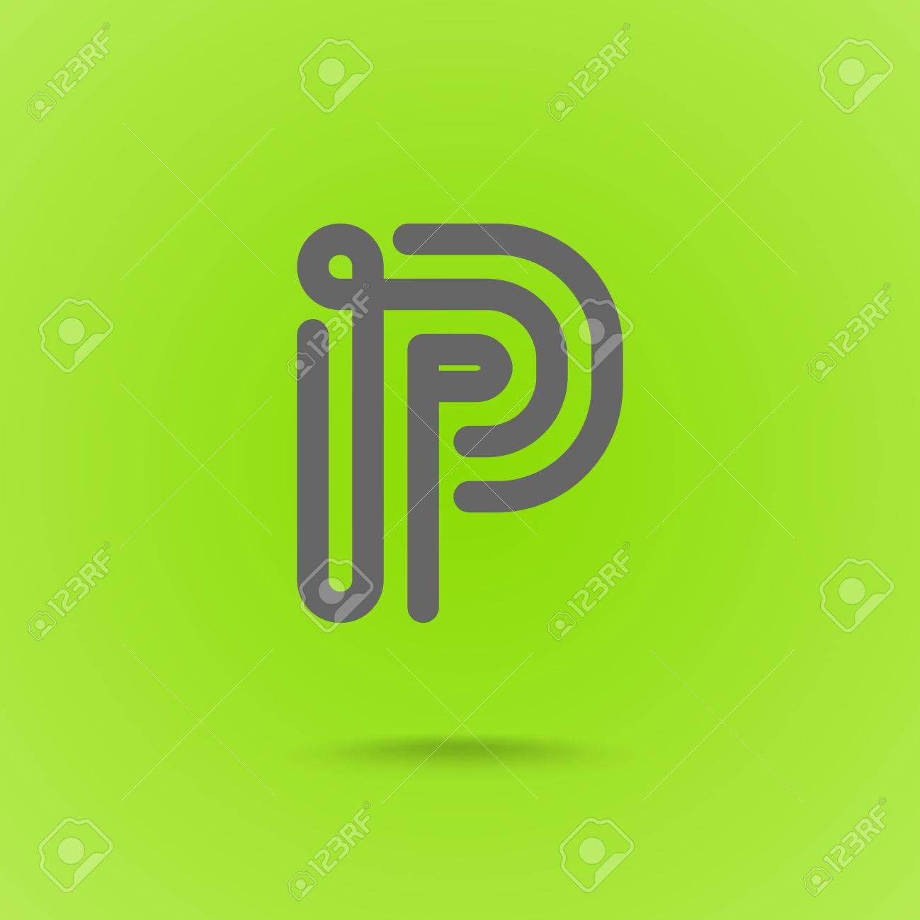 P letter p line logo design element type letter p on green p letter p line logo design element type letter p on green background stock biocorpaavc