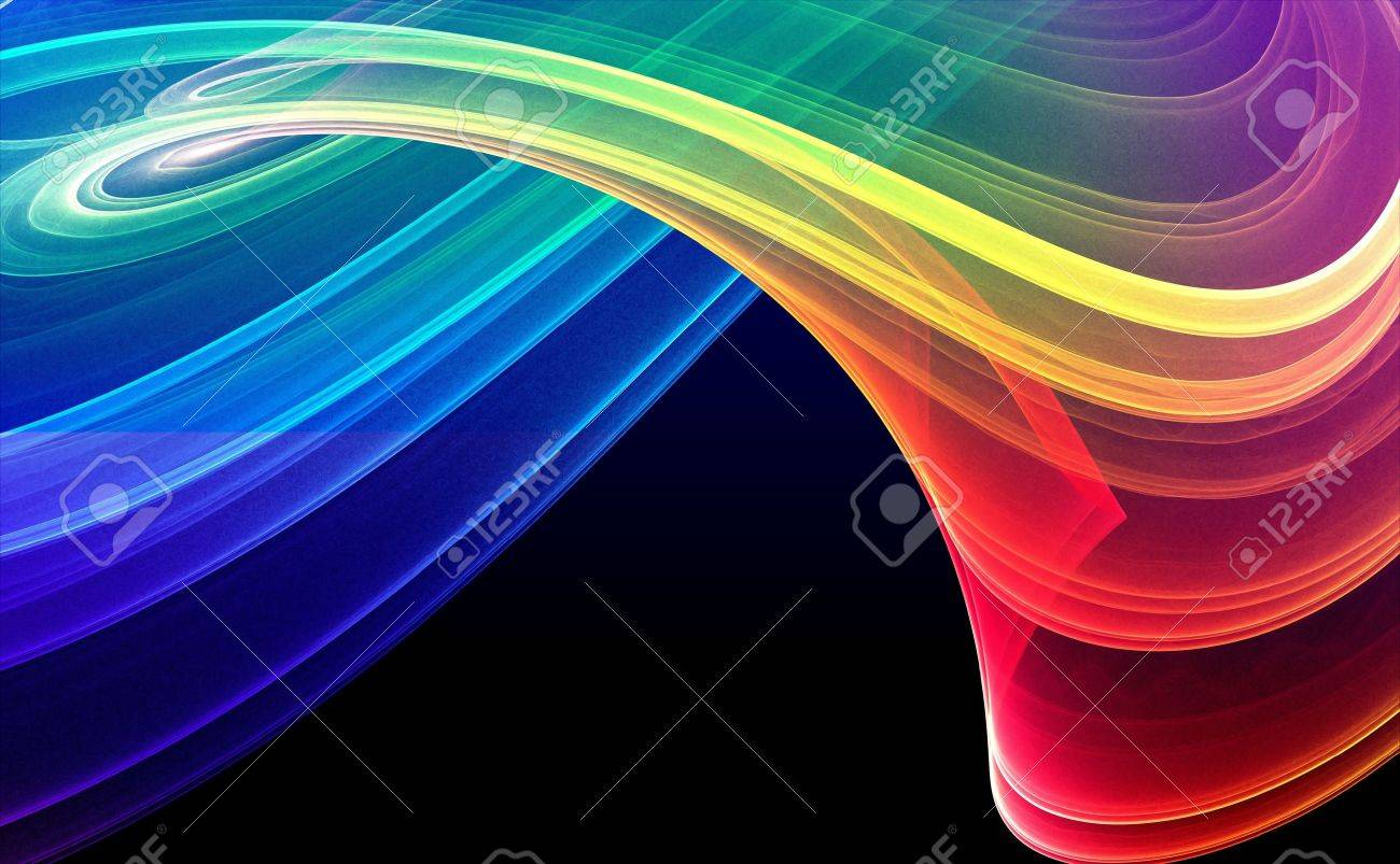 Pics photos 3d colorful abstract background design - Colorful 3d Rendered Fractal Design Abstract Background Stock Photo 1944457