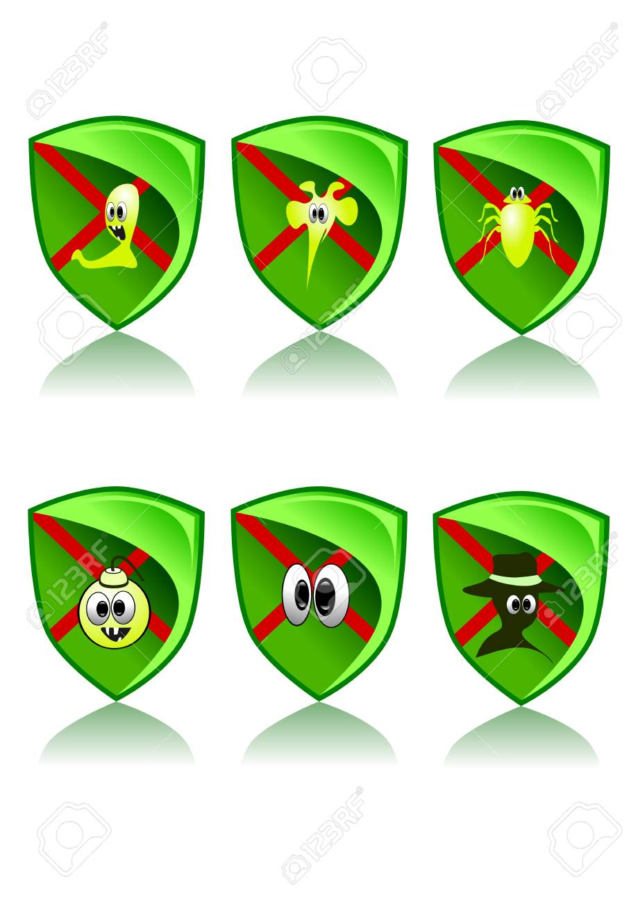Green Web Icons Set - Safety (Vector illustration) Stock Vector - 3117813