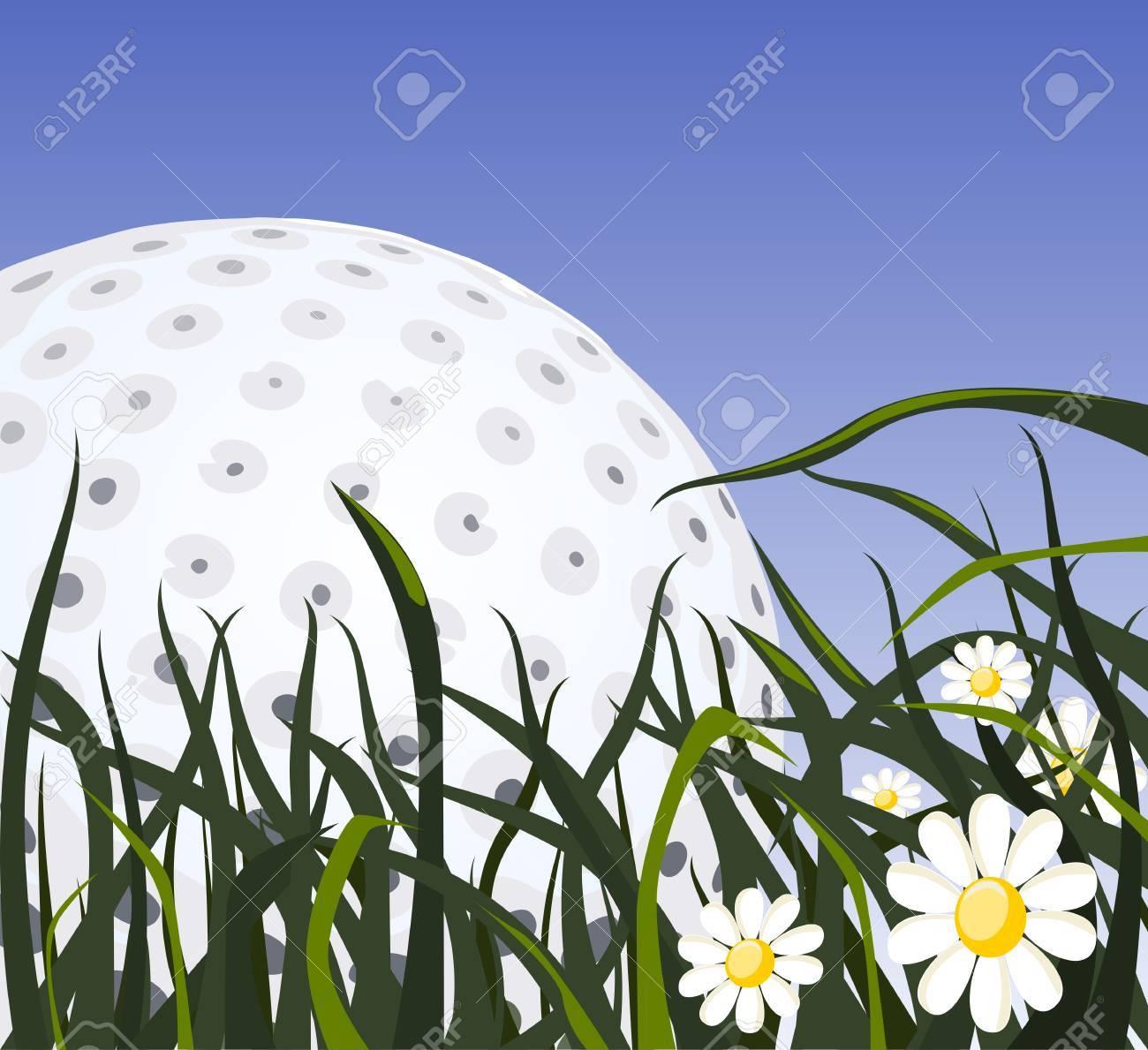 Abstract sport background (Golf Ball Vector) Stock Vector - 3856675