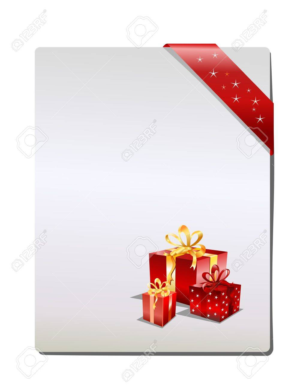 Christmas Gift page, ( vector illustration ) Stock Vector - 5449014