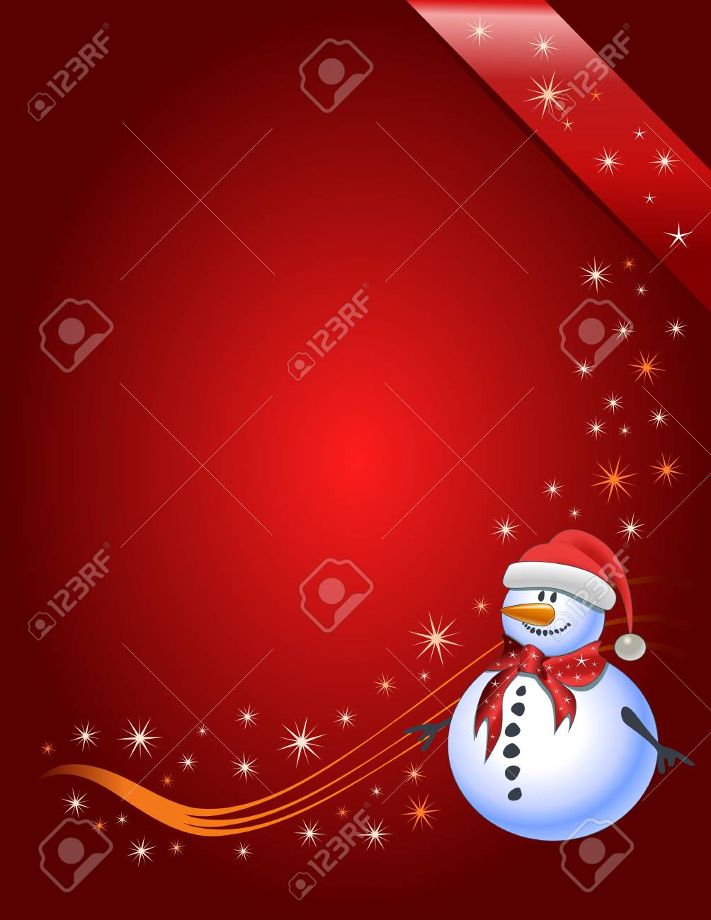 Vector illustration Snowman with Santa Claus hat Stock Vector - 5712282