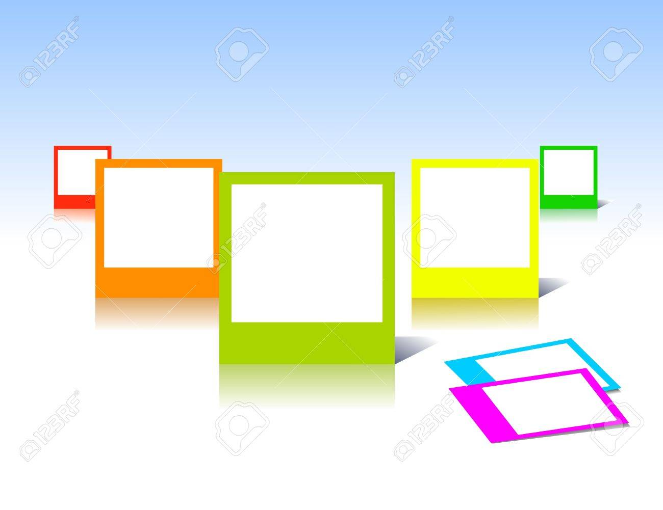 Colorful photo frames in art Stock Vector - 8833846