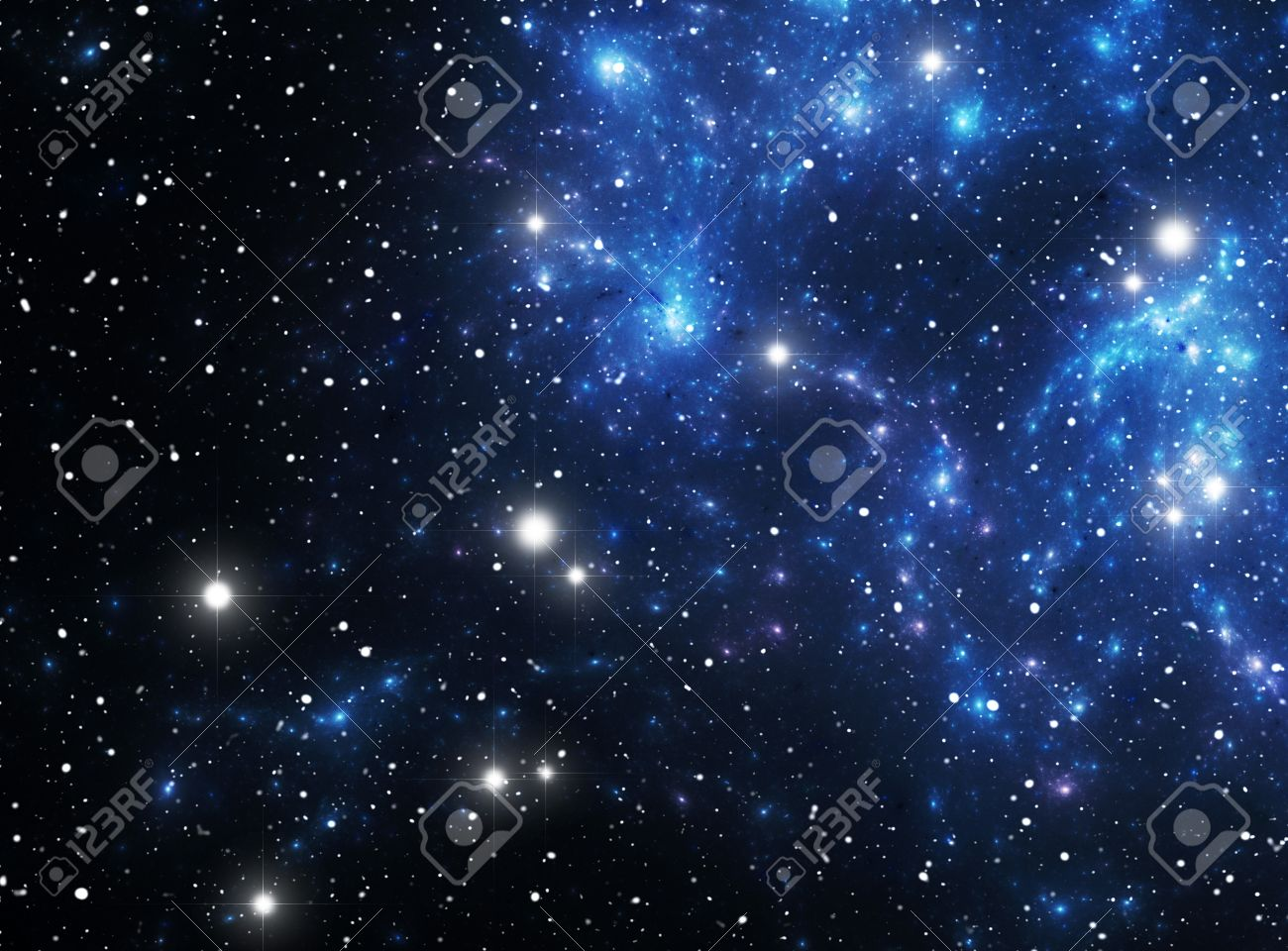 Colorful space star nebula Stock Photo - 9507889