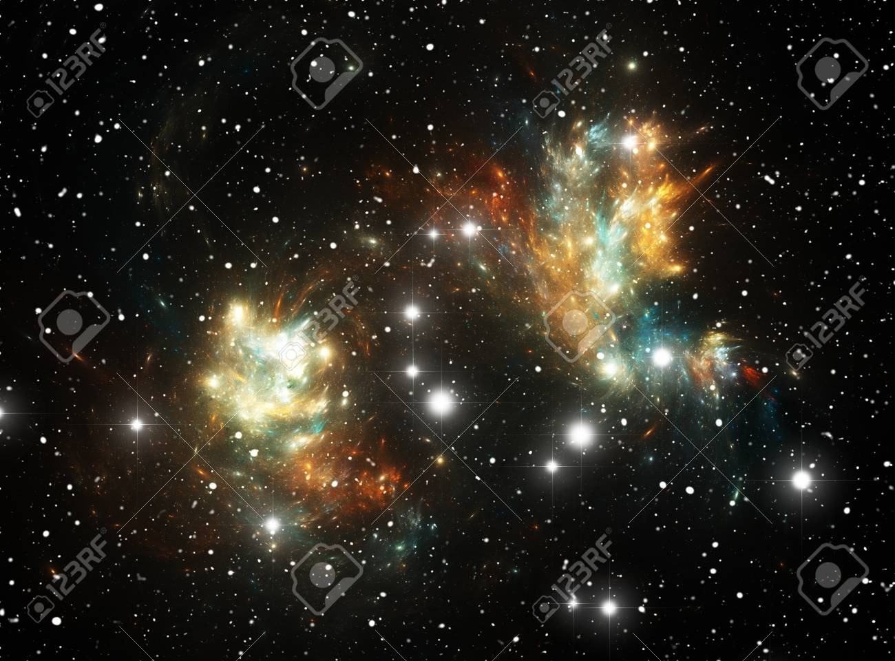 Colorful space star nebula Stock Photo - 9577310