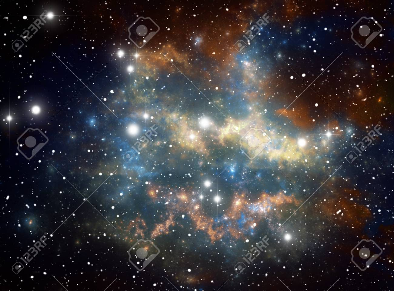 Colorful space star nebula Stock Photo - 9577311