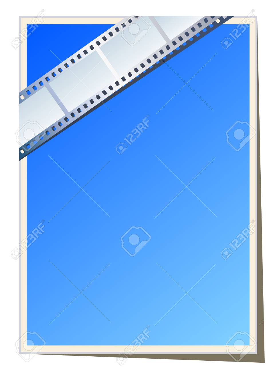 Blank photo - video template, illustration Stock Vector - 9935180