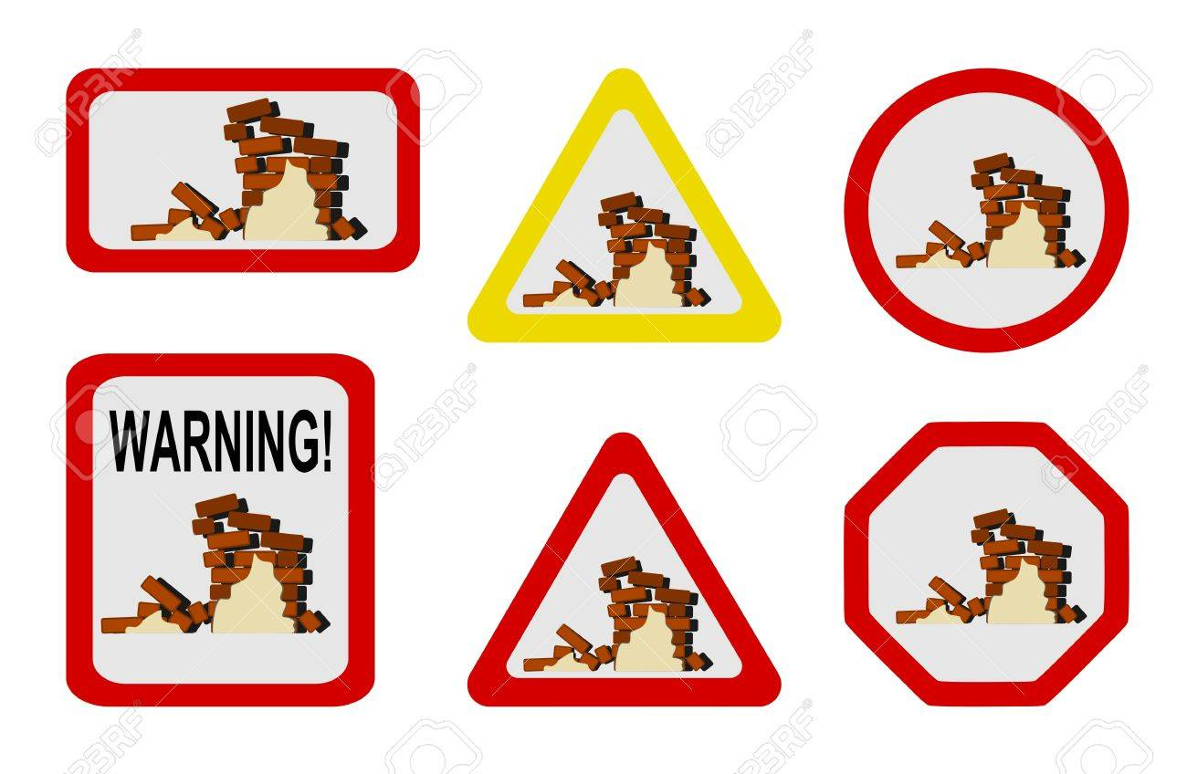 Danger nature - earthquake Stock Vector - 10105631