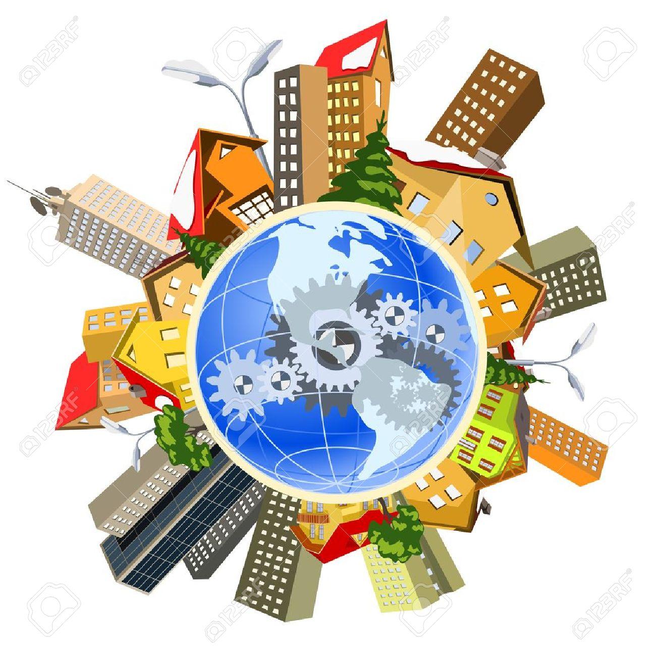 Earth perfect precise machine Stock Vector - 12722437