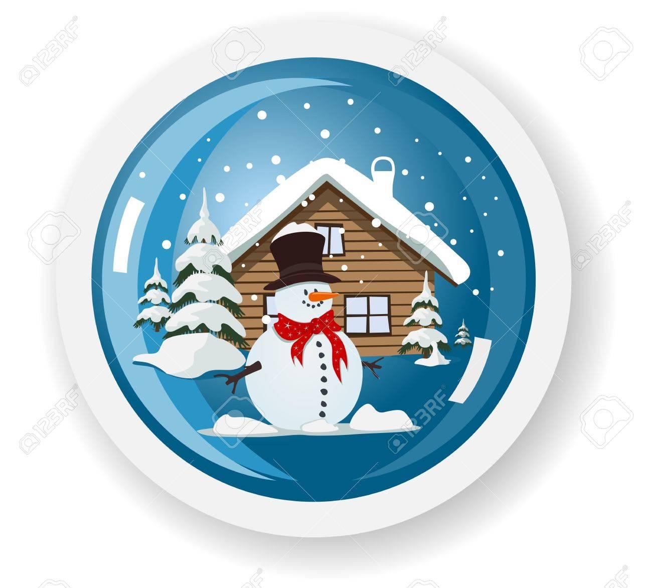 snowman sticker Stock Vector - 12722418
