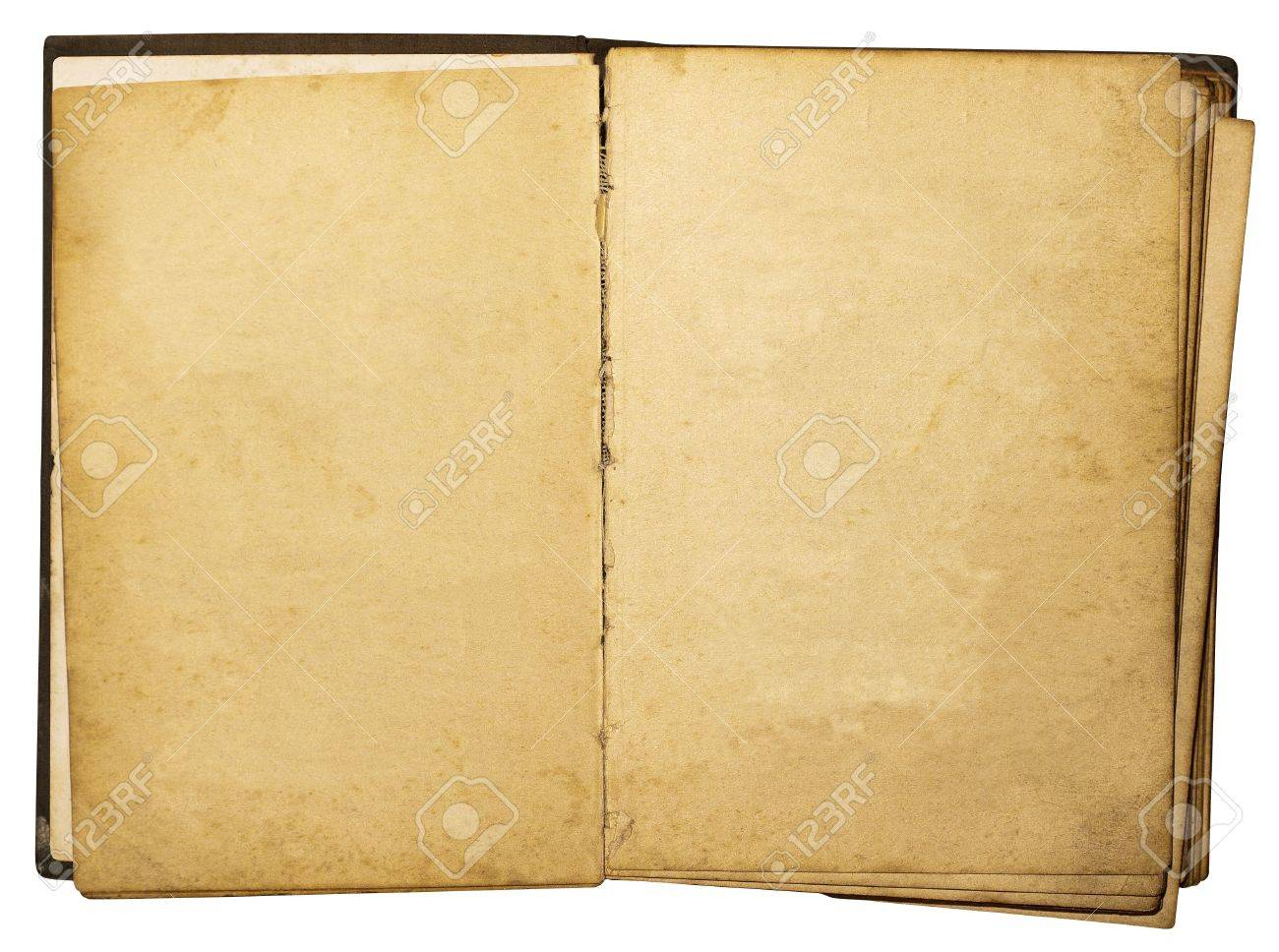 Open vintage book isolated on white background Stock Photo - 14479209