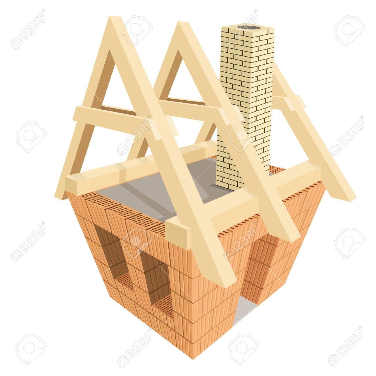 Haus bauen clipart  Haus Bau Lizenzfreie Vektorgrafiken Kaufen: 123RF