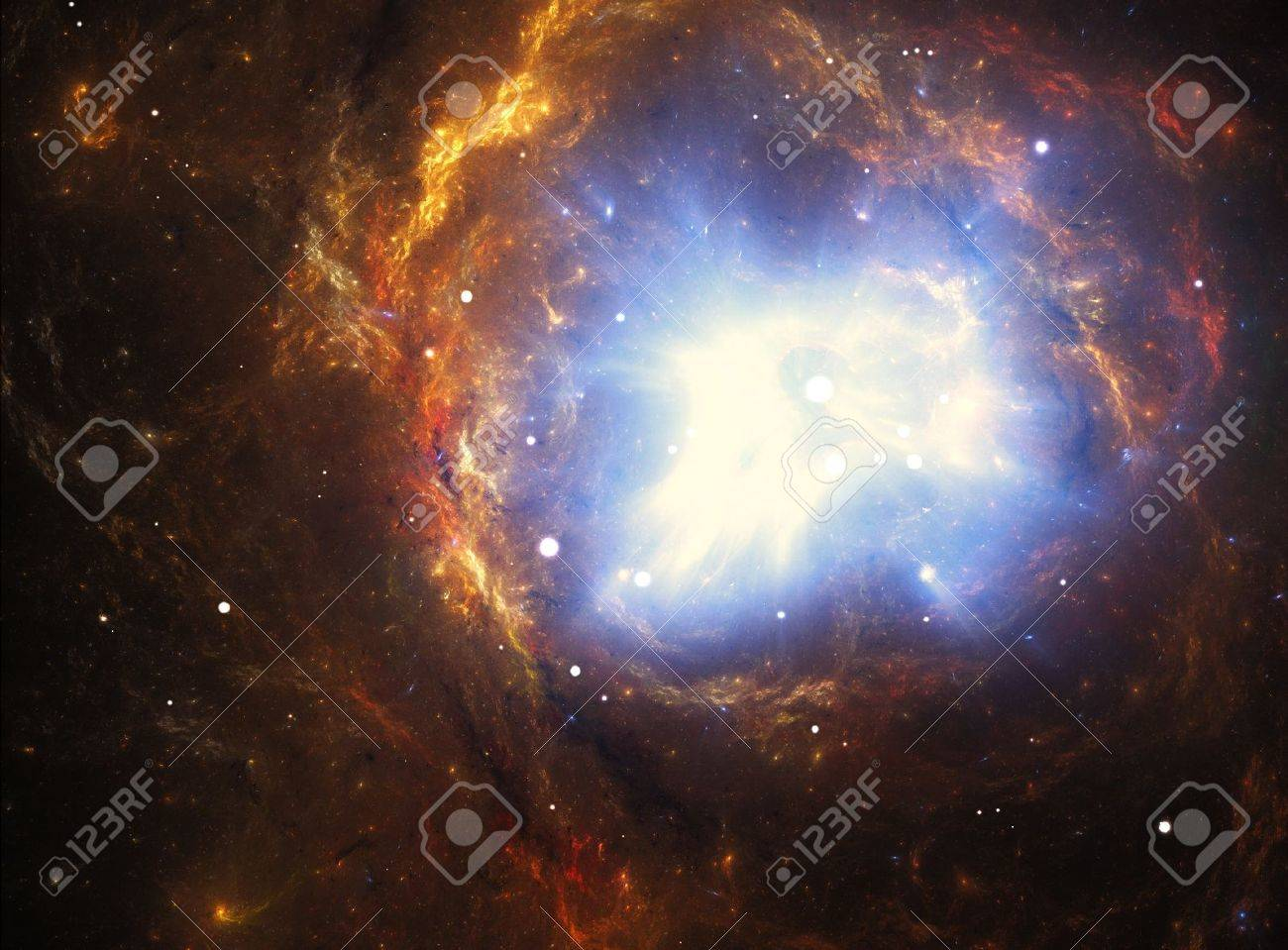 Colorful nebula created by a supernova explosion Stock Photo - 16643260