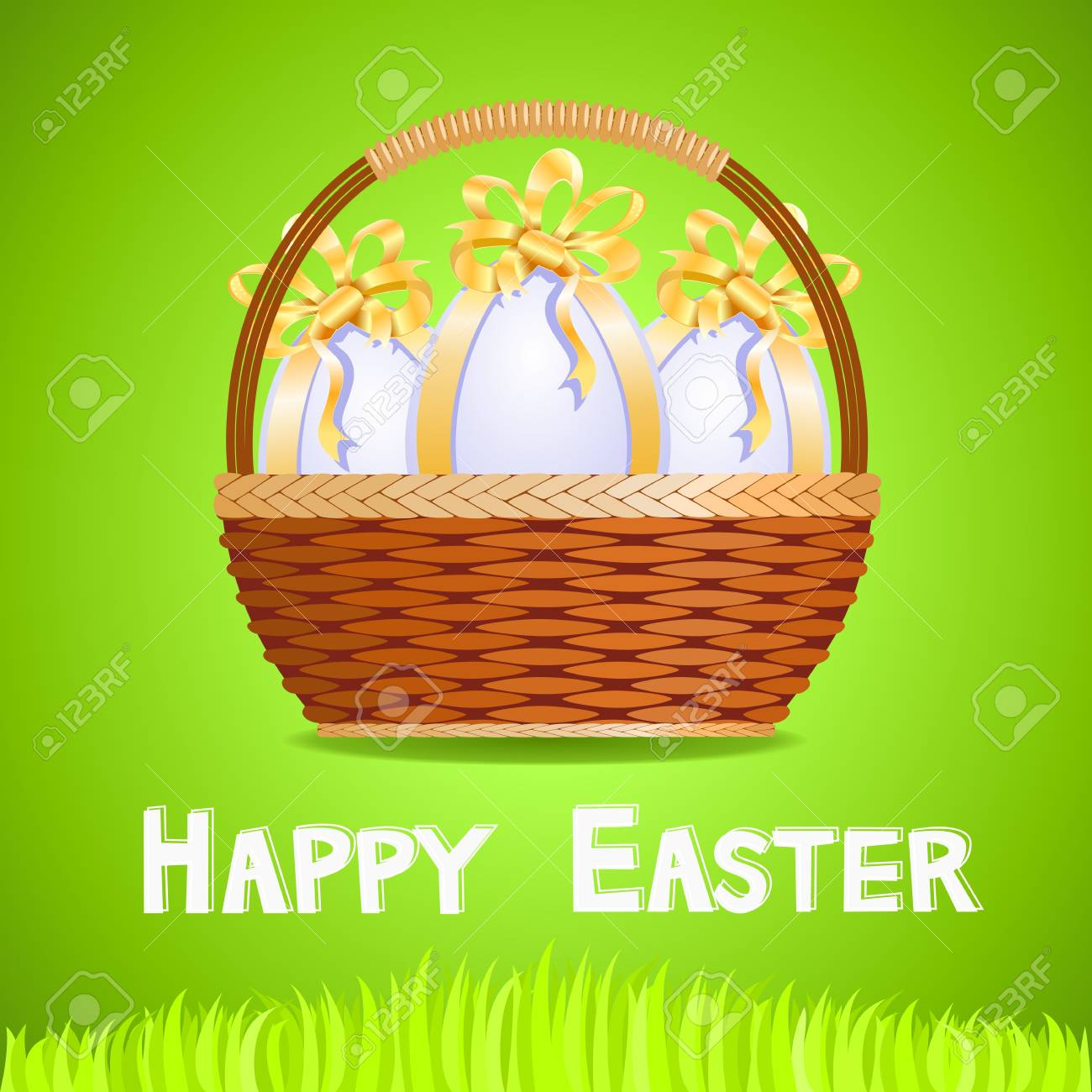 Basket with Easter eggs Stock Vector - 16643265